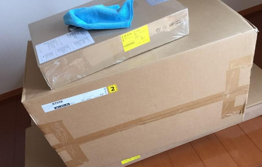 IKEAソファの梱包