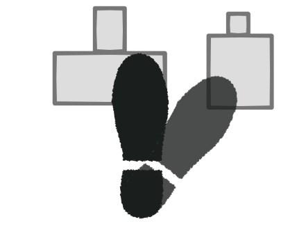 踏み間違い防止の右足の置き方