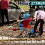 公園に車が突っ込む事故。自動ブレーキは全然効かない。大事なのはPとサイドを使う事!